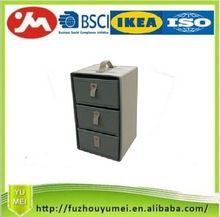 Foldable decorative storage draw box with handles