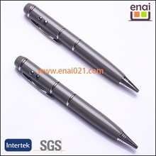 high quality Laser and LED light metal ballpoint pen with USB drive