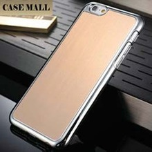 New arrival Phone Case For iPhone 6 Plus 5.5 inch, Brushed Metal Back Cover For iPhone 6 Plus ,For iPhone6 Plus hard back case
