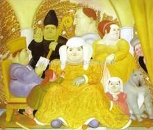 family scene Famous Artist Fernando Botero oil painting 57682