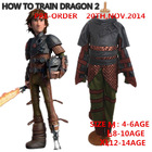 How to train your dragon Hit animated film cosplay clothes carnival costume