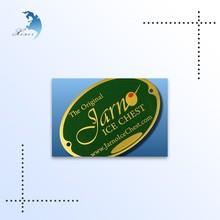 Custom made metal logo charms self adhesive metal plate jewelry metal logo label, tags, signs metal nameplate