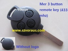 For MERCEDES BENZ MB Smart car Fortwo remote fob key 3 button (433 mhz)