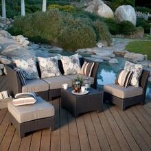 Chuvoso terraço sofá mobiliário sofá ao ar livre