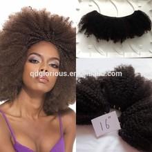 100% virgin 5a 6a human hair afro kinky curly Mongolian virgin hair tissage afro kinky
