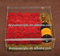 Caixa de acrílico alto-falante/acrílico transparente caixa de lembrança/acrílico transparente caixa de flores