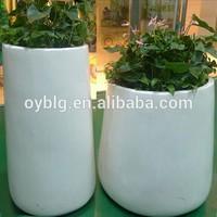 interior decorative hotel fiberglass flower planter pots