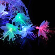 AC110V/220V 2W 4M IP44 20leds Four-color Petals Fiber LED Christmas Garden Ornaments