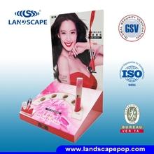 make up products pop cardboard display shelf /cardboard display for skin care product