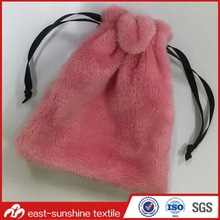 Fashion soft high quality flannel pouch,mini drawstring pouches for jewelry,microfiber cleaning pouch case