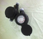 High quality black plastic water meter , piston volumetric water meter