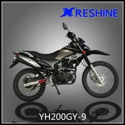 Black dirt bike 200cc off-road motorcycle