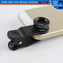 Universal Clip Lens 3 in 1 ( Fisheye+Wide-angle+Marco Lens) Camera Photo Lens for Mobile Phone