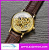 Genuine leather strap miyota automatic watch movement with your brand