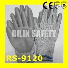 RILIN SAFETY extra long cuff safety gloves,rubber dipped cut glovesCE EN388 EN420