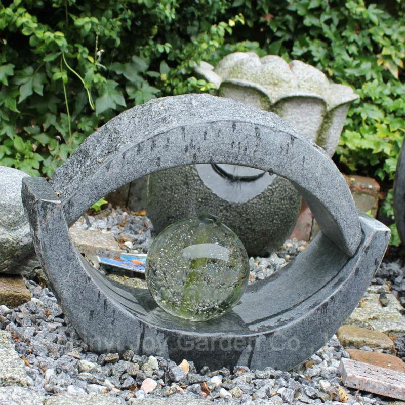 Piedra peque os adhesivos decorativos fuente de agua for Articulos decorativos para jardin