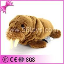 China customize sea animal toy soft plush sea elephant stuffed walrus plastic eyes