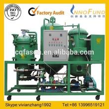 Automatic vaccum used engine oil refining machine