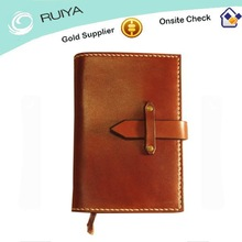 Refiilable Top-grain Tanned Leather Notebook Cover with Clasp