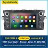 7 inch Toyota Corolla 2012 Android 4.2 Car DVD Digital Radio Tuner FM AM GPS DVD SD Free WiFi& 8G Storage