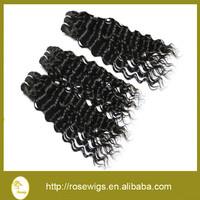Brazilian Deep Wave Virgin Hair 18'' 20'' 22'' Mixed Length Natural Black 100% Virgin Brazilian Hair Wholesale