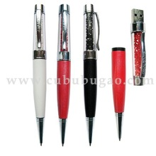 High quality memory writing pen with color crystal in bulk