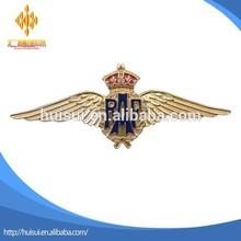 custom World war ii metal 3d RAF pilot wing with crown badge