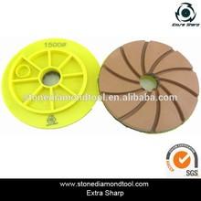 Snail lock 150mm edge polishing pads
