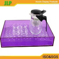 JLP 2014 hot sale customize clear tray, square acrylic tray,cable tray
