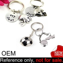 custom promotion decorative metal souvenir keychain foot ball