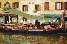 Coastal landscape oil canvas painting