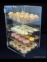 4 tray clear acrylic cupcake display cabinet