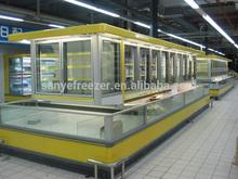 Milk Display Freezer, Frozen Food Freezer, Supermarket Display Showcase