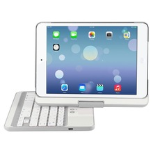 White Color 180 Degree Flip Turn and 360 Degree Spin Turn Case with Bluetooth 3.0 ABS Keyboard for iPad Mini 3