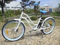 high quality white e-bicycle lady beach cruiser 500W best price full power moto