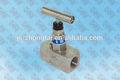 de alto rendimiento 6000 ss316 psi de acero inoxidable válvulas de aguja