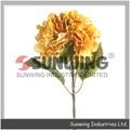 Toque real dentada medio rama hortensia( otoño), flores artificiales para arreglo de graves