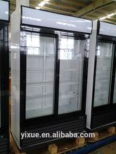 LG-680 upright fridge aluminum beverage cans display