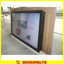 transparent edge-lit acrylic sign picture led
