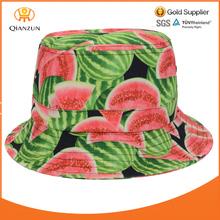Watermelon Fruit Bucket Hat Outdoor Beach Fishing Caps