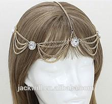 Fashion Women RHINESTONE Metal Head Chain Headband Headpiece Hair Band Jewelry