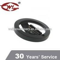 professional manufacture aluminum hand wheel spoke black