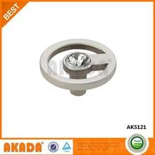 AK5121 top quality circle design wardrobe crystal knobs
