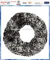 acrylique noir et blanc colorant space câble col en tricot écharpe tube pour les hommes