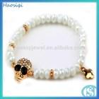 Top sale Professional design high quality Skull semi-precious stones bead bracelet