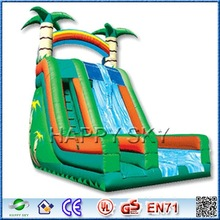 Hot big water slide inflatable,inflatable bouncy castle with slide,giant inflatable water slide