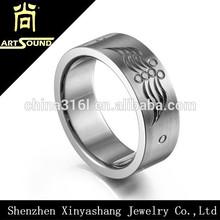 Hot sale custom cheap titanium signet ring
