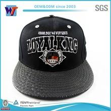 Snapback blank hat leather,leather snapback blank hat,blank snakeskin snapback hat