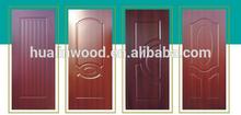 wood veneer or melamine faced hdf/mdf /plywood door skin made in China
