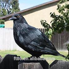 popular hunting birds decoy black artificial crow decoy